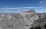 En haut du couloir du Mont Perdu: vue sur le Cylindre du Marboré et l'étang glacé