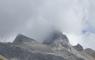 Le Pic de Ger quasi invisible dans les nuages